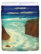 Mendocino Waves Duvet Cover