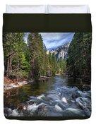Merced River, Yosemite National Park Duvet Cover