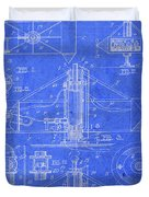 Merry Go Round Amusement Carousel Vintage Patent Blueprint Duvet Cover