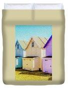 Mersea Island Beach Hut Oil Painting Look 6 Duvet Cover