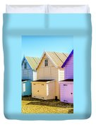 Mersea Island Beach Huts, Image 6 Duvet Cover