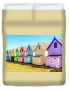 Mersea Island Beach Huts, Image 9 Duvet Cover