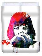 Mia Snorting Watercolor Duvet Cover
