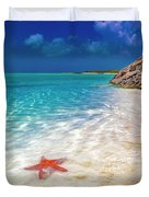 Middle Caicos Tranquility Awaits Duvet Cover