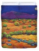 Midnight Sagebrush Duvet Cover by Johnathan Harris