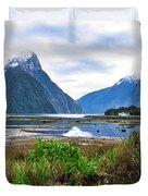 Milford Sound - New Zealand Duvet Cover