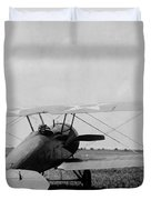 Military Biplane - Marine Flying Field - 1918 Duvet Cover