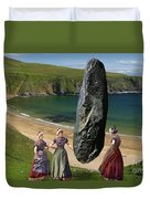 Milkmaids At The Monolith Duvet Cover