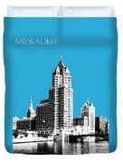 Milwaukee Skyline - 4 - Coral Duvet Cover