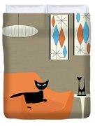 Mini Gravel Art Orange Chair Duvet Cover