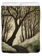 Misty Dawn In Early Winter Duvet Cover