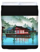 Miyajima In The Mist - Digital Remastered Edition Duvet Cover
