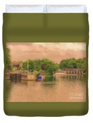 Molesey Lock And Weir Duvet Cover