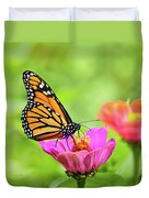 Monarch Butterfly Square Duvet Cover