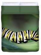 Monarch Caterpillar Macro Duvet Cover