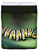 Monarch Caterpillar Macro Number 2 Duvet Cover