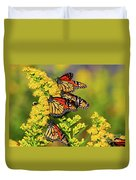 Monarch Gathering 2 Duvet Cover