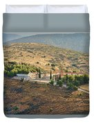 Monastery Agion Anargiron Above Argos Duvet Cover