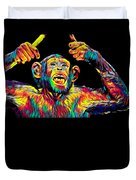 Monkey Drummer Gift For Musicians Color Design Duvet Cover