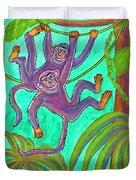 Monkeys On Creepers Duvet Cover