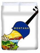 Montana State Fiddle Duvet Cover