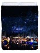 Monterey Bay At Night Duvet Cover