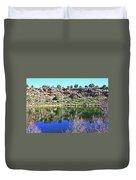 Montezuma's Well Az Water Blue Sky Reflections Stone Wall 3192019 5253. Duvet Cover