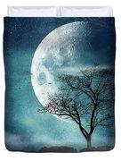 Moon Blues Duvet Cover
