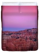 Moonrise Over The Hoodoos Bryce Canyon National Park Utah Duvet Cover by Dave Welling