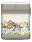 Morlaix, Entrance Of The River - Digital Remastered Edition Duvet Cover