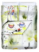 Morning By The Artist Catalina Lira Duvet Cover