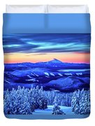 Morning From Timberline Lodge Duvet Cover