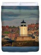 Morning In Portland Harbor Duvet Cover