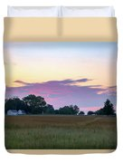 Morning Skies Over Gettysburg Duvet Cover