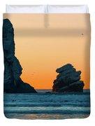Morro Bay Sunset Duvet Cover