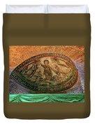 Mosaics Of Mausoleo Duvet Cover