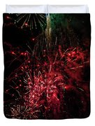Mostly Red And White Fireworks Duvet Cover