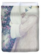 Mother And Child By Wilhelm List Duvet Cover
