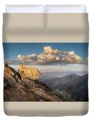 Mount Laguna Rocks And Sunset Duvet Cover