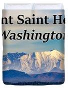 Mount Saint Helens Washington Duvet Cover