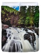 Mount Tremblant Waterfall Duvet Cover