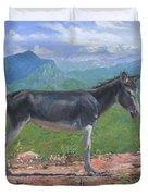 Mountain Donkey  Duvet Cover