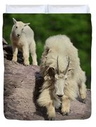 Mountain Goats- Nanny And Kid Duvet Cover