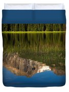 Mountain Reflection In Beirstadt Lake Duvet Cover