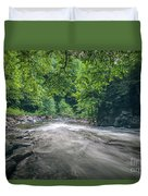 Mountain Stream In Summer #1 Duvet Cover by Tom Claud