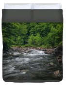 Mountain Stream In Summer #2 Duvet Cover by Tom Claud