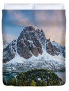 Mt Assinniboine Sunset Duvet Cover