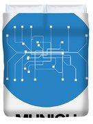 Munich Blue Subway Map Duvet Cover