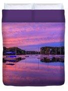 Mystic Lake Sunrise Duvet Cover