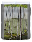 Naked Forest Duvet Cover